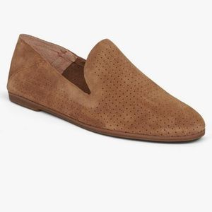 Lucky Brand Open Brown/Rust Caldyn Suede Flat